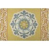Homefires Medallion Gray/Gold Area Rug