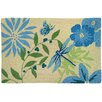 Homefires Blue Butterfly and Dragonfly Area Rug