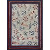 Homefires Nautical Elements Red/Blue Indoor/Outdoor Area Rug