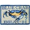 Homefires Blue Crab Beach Area Rug