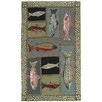 Homefires High Country Mountain Trout Area Rug