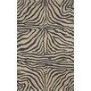 Trans-Ocean Rug Ravella Black Zebra Outdoor Rug
