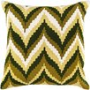 Surya Chevron Beat Cotton Throw Pillow