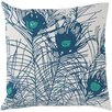 Surya Perfect in Peacock Cotton Throw Pillow
