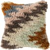 Surya Zig Zagging Delight Wool Throw Pillow