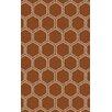 Surya Stamped Rust Geometric Rug