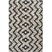 Surya Trail Black/Light Gray Geometric Area Rug