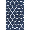 Surya Mamba Navy/Light Gray Geometric Rug