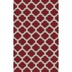 Surya Cosmopolitan Cherry/Light Gray Geometric Area Rug