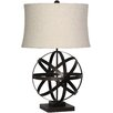"Surya Tabitha 26"" H Table Lamp with Oval Shade"