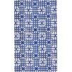 Surya Cape Cod Cobalt/Ivory Geometric Indoor/Outdoor Rug