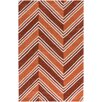 Surya Opera Orange Chevron Area Rug