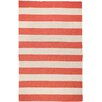 Surya Frontier Red/Ivory Striped Area Rug