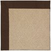 Capel Rugs Zoe Cane Wicker Machine Tufted Brown/Beige Area Rug