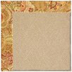 Capel Rugs Zoe Machine Tufted Bronze Flowers and Beige Area Rug