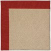 Capel Rugs Zoe Cane Wicker Machine Tufted Tomatoes and Beige Area Rug