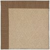 Capel Rugs Zoe Cane Wicker Machine Tufted Brown Area Rug