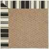 Capel Rugs Zoe Raffia Machine Tufted Onyx/Brown Area Rug