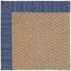 Capel Rugs Zoe Raffia Machine Tufted Navy/Brown Area Rug