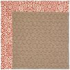 Capel Rugs Zoe Grassy Mountain Machine Tufted Cardinal/Brown Area Rug