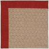 Capel Rugs Zoe Grassy Mountain Machine Tufted Tomatoes/Brown Area Rug