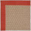 Capel Rugs Zoe Grassy Mountain Machine Tufted Apple Red/Brown Area Rug