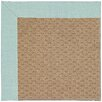 Capel Rugs Zoe Raffia Machine Tufted Iceberg/Brown Area Rug