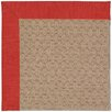 Capel Rugs Zoe Grassy Mountain Machine Tufted Red/Brown Area Rug