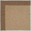 Capel Rugs Zoe Raffia Machine Tufted Cafe/Brown Area Rug