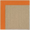 Capel Rugs Zoe Sisal Machine Tufted Clementine/Brown Area Rug