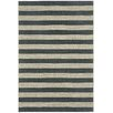 Capel Rugs Elsinore Cinders Black/Grey Striped Outdoor Area Rug