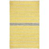 Capel Rugs Barred Yellow Smoke Striped Area Rug