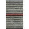 Capel Rugs Barred Deep Grey Pink Striped Area Rug