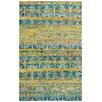 Capel Rugs Round About Acrobat Hand Knotted Banana Area Rug