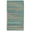 Capel Rugs Jennie Lake Cross Sewn Braided Azure Area Rug