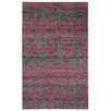 Capel Rugs Round About Acrobat Hand Knotted Raspberry Area Rug