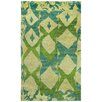 Capel Rugs Round About Big Top Hand Knotted Key Lime Area Rug