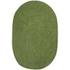 Capel Rugs Custom Classics Oval Braided Green Area Rug
