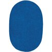 Capel Rugs Custom Classics Oval Braided Royal Blue Area Rug