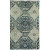 Capel Rugs Round About Ring Leader Hand Knotted Blueberry Area Rug
