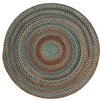 Capel Rugs Jennie Lake Round Braided Chestnut Area Rug