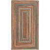Capel Rugs Jennie Lake Concentric Braided Burnt Sienna Area Rug