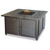 Uniflame Corporation Gas Firebowl With Slate Tile Mantel Fireplace