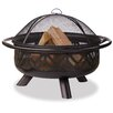 Uniflame Corporation Bronze Outdoor Geometric Design Fire Pit