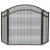 Uniflame Corporation 3 Panel Wrought Iron Arch Top Fireplace Screen