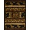United Weavers of America Affinity Black Bears Lodge Ivory Area Rug
