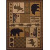 United Weavers of America Affinity Pine Montage Lodge Brown / Ivory Area Rug