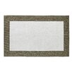 Dynamic Rugs Manhattan White Solid Bordered Area Rug