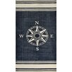 Dynamic Rugs Hand-Woven Navy/Off White Area Rug