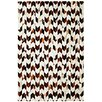 Dynamic Rugs Leather Work Ivory/Brown Rug